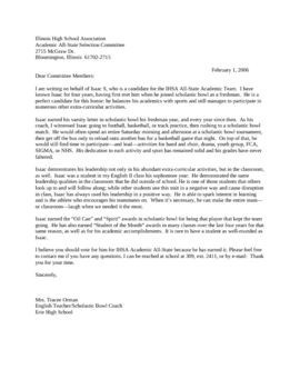 recommendation letter for best teacher award  Letter For Teacher Of The Year Recommendation - My ..