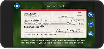 bank of america bank check  Mobile Check Deposit from Bank of America - bank of america bank check