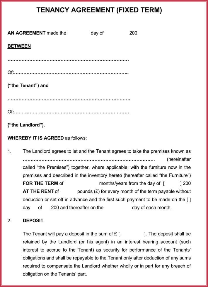 house rental agreement form free download  Month to Month Rental Agreement Forms, Templates (