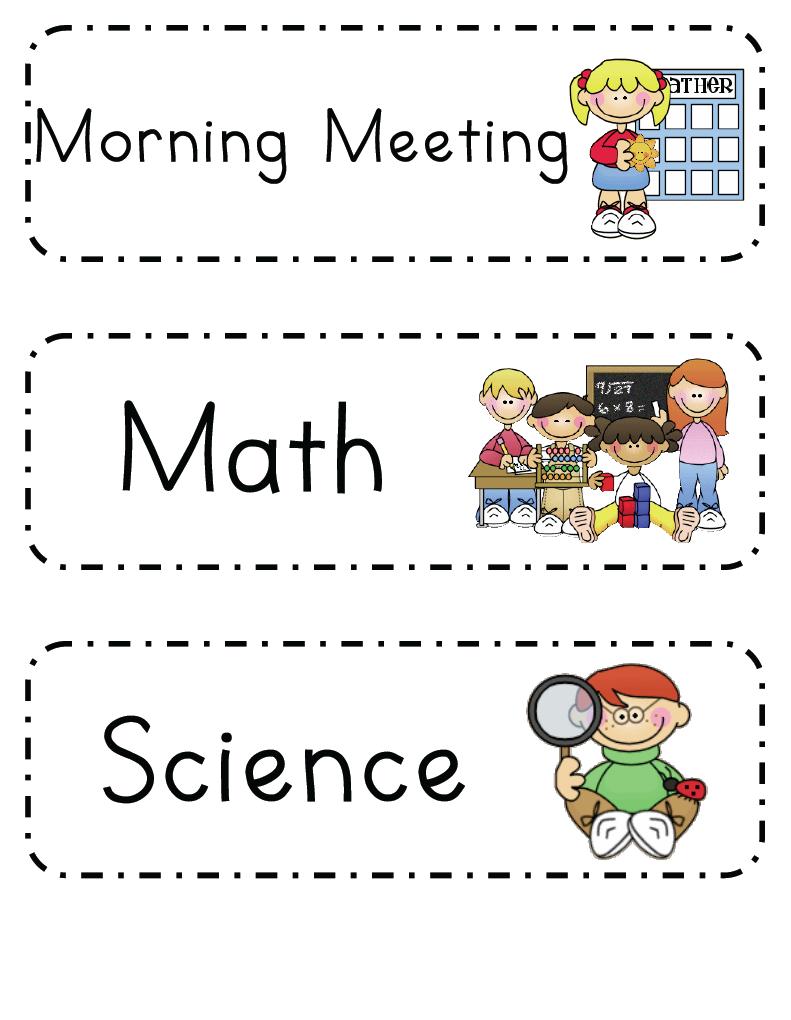 class schedule template kindergarten  Mrs
