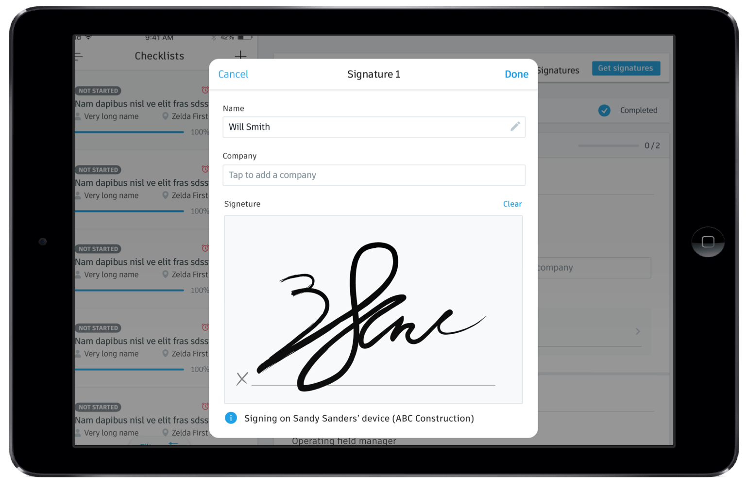 checklist template with signature  New Signatures Update Makes Construction Checklists Easier ..