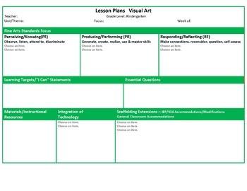ohio preschool lesson plan template  Ohio Kindergarten Music and Visual Art Lesson Plan ..