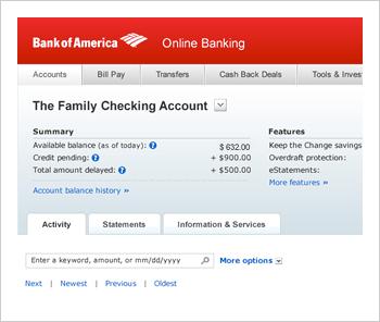 bank of america bank account  Online Banking from Bank of America - Enroll Online Today - bank of america bank account