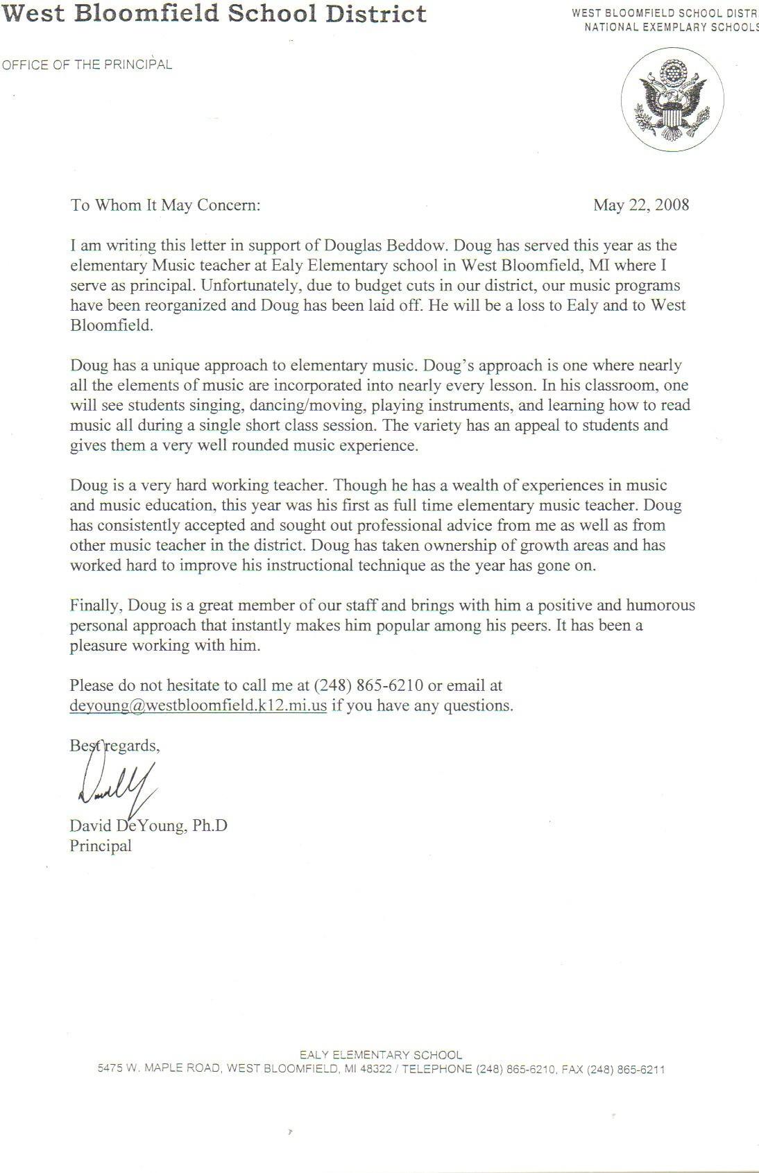 recommendation letter for teacher post  Recommendation Letter For Teacher | templates free printable - recommendation letter for teacher post