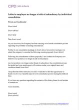 letter of redundancy template nz  Redundancy | CIPD HR-inform - letter of redundancy template nz