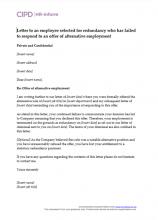 redundancy letter template employer nz  Redundancy   CIPD HR-inform - redundancy letter template employer nz