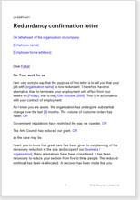 redundancy letter template employer nz  Redundancy warning letter - redundancy letter template employer nz