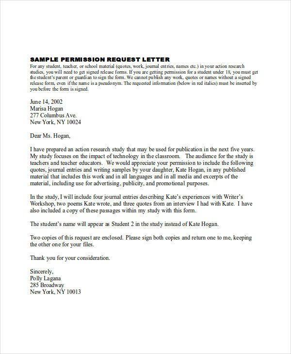 sample request permission letter  sample request permission letter The Latest Trend In - AH ..