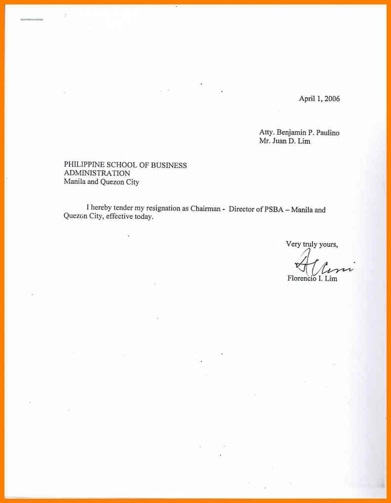 easy resignation letter template  Sample Simple Resignation Letter   scrumps - easy resignation letter template