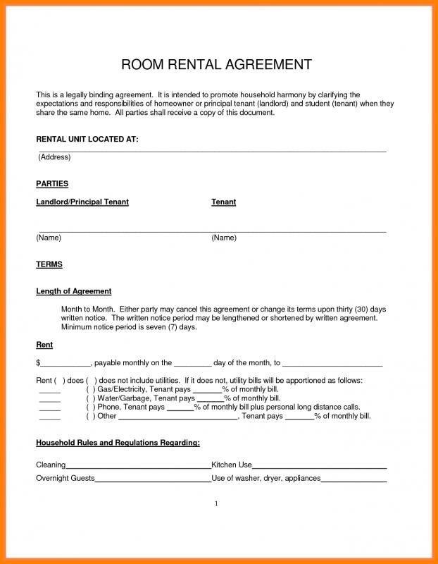 free rental agreement form alberta  Simple Month To Month Rental Agreement | Room rental ..