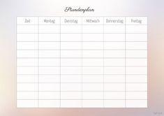 schedule template aesthetic attending  Stundenplan und Wochenplan zum Ausdrucken | Wochenplan zum ..
