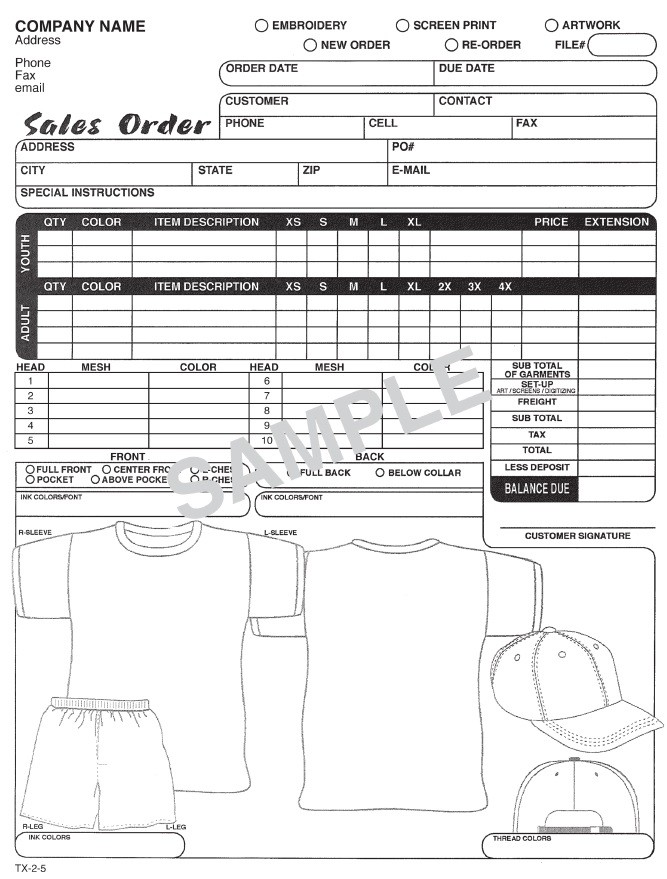 order forms for custom t shirts  T-Shirt Order Form - order forms for custom t shirts