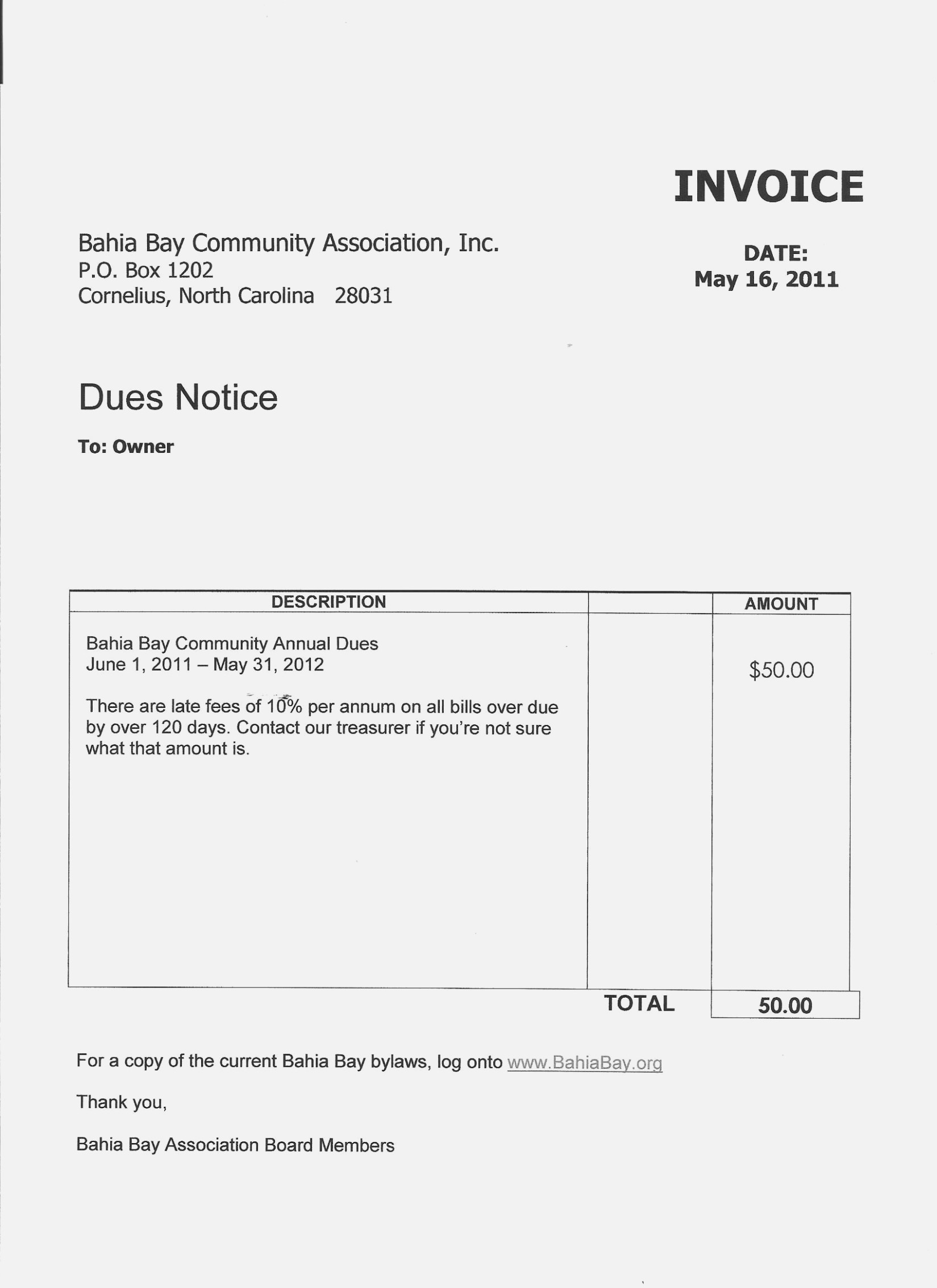 homeowners association dues invoice  The Seven Common   Realty Executives Mi : Invoice and ..