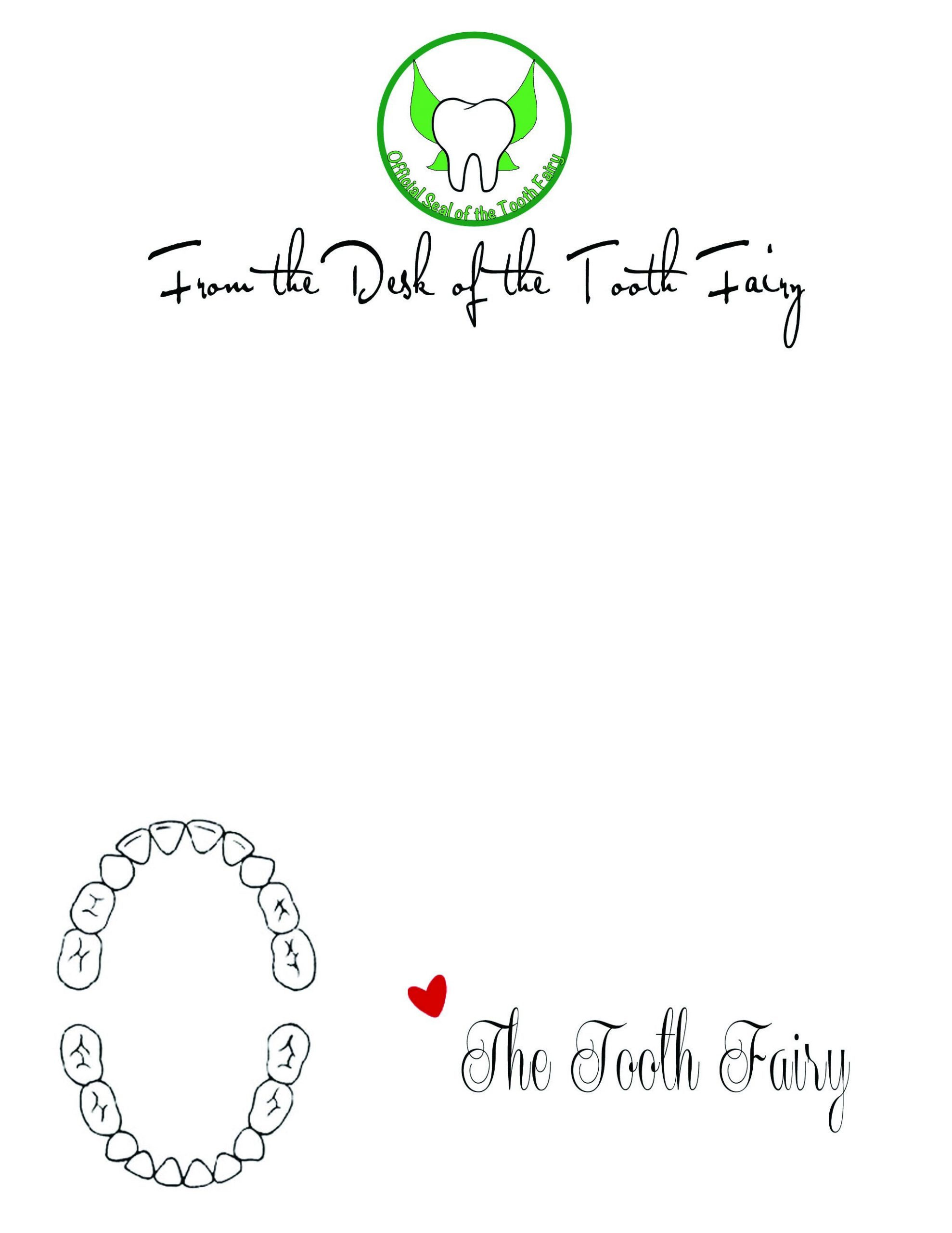 tooth fairy letter template word  The Spohrs Are Multiplying Tooth Fairy Letters - tooth fairy letter template word