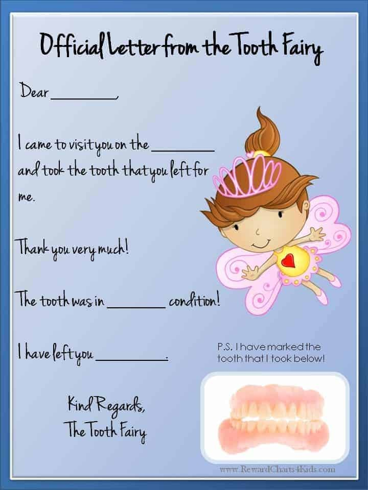 tooth fairy letter template free  Tooth Fairy Letter | Free Printable - tooth fairy letter template free