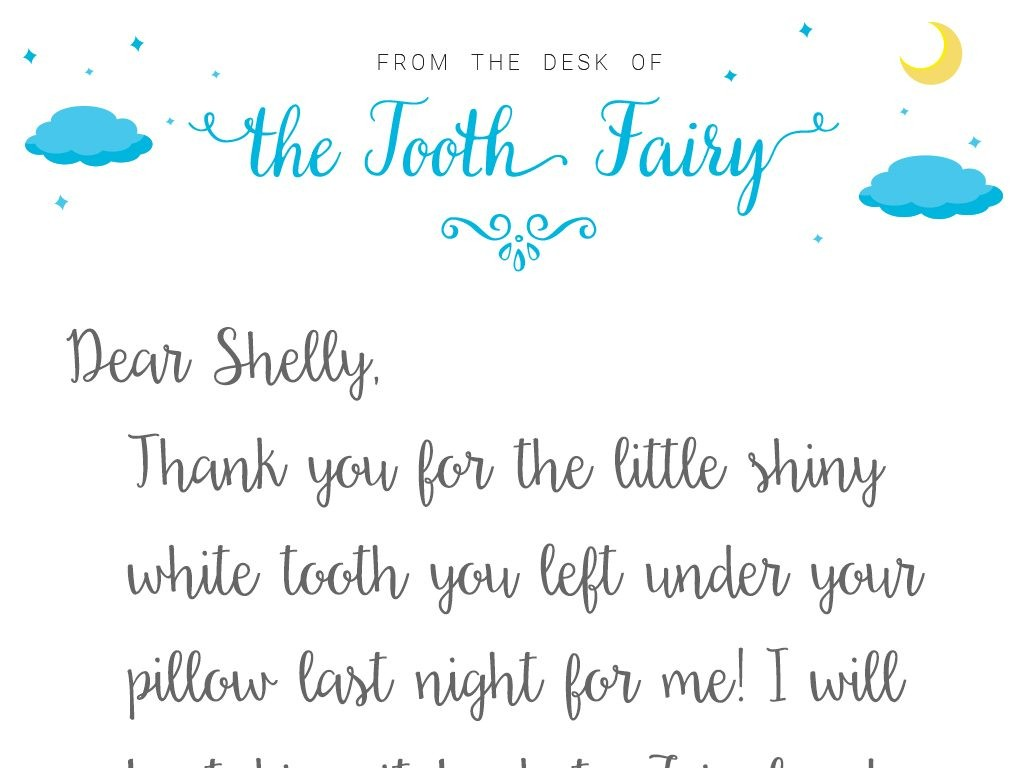 tooth fairy letter template  Tooth Fairy Letter Template | Baton Rouge Parents Magazine - tooth fairy letter template