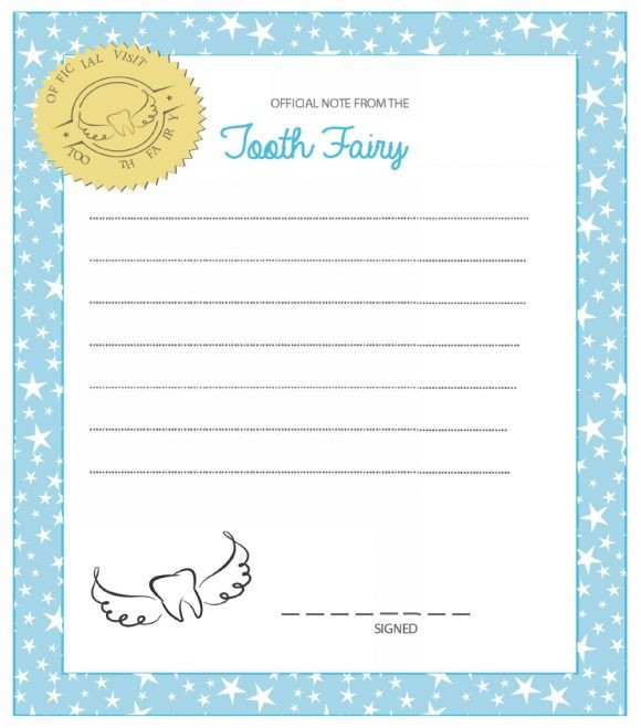 tooth fairy letters template editable free  Tooth Fairy Letterhead - tooth fairy letters template editable free