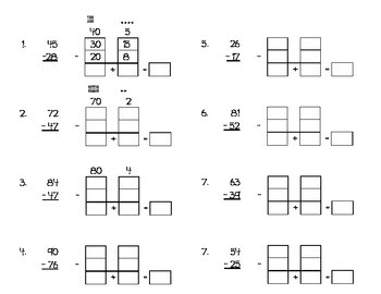 expanded form subtraction worksheets  Ungrouping Subtraction Worksheet Using Expanded Form by ..