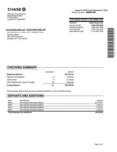chase bank verification of deposit form  We customize Chase bank statement to your specifications ..