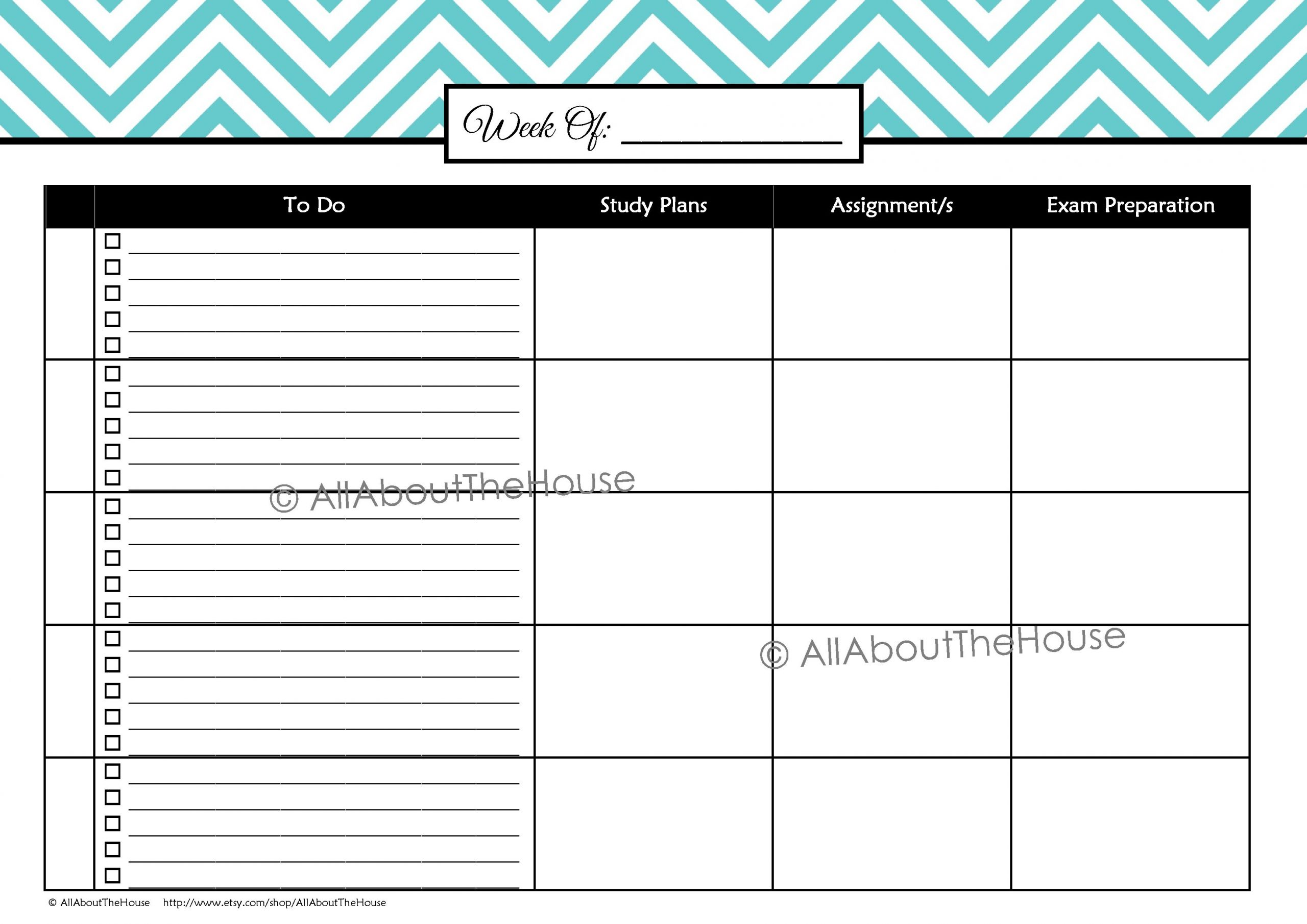study schedule template 4  Weekly Study Schedule 2 – L Blue(4) | AllAboutTheHouse ..