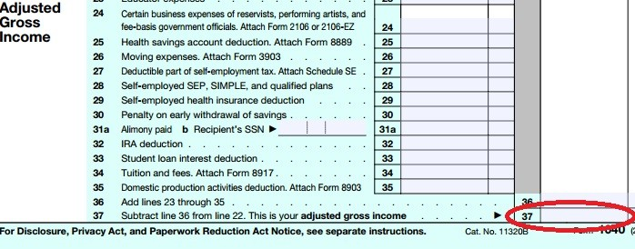 agi on form 1040  Where To Find Your Prior Year AGI   PriorTax - agi on form 1040