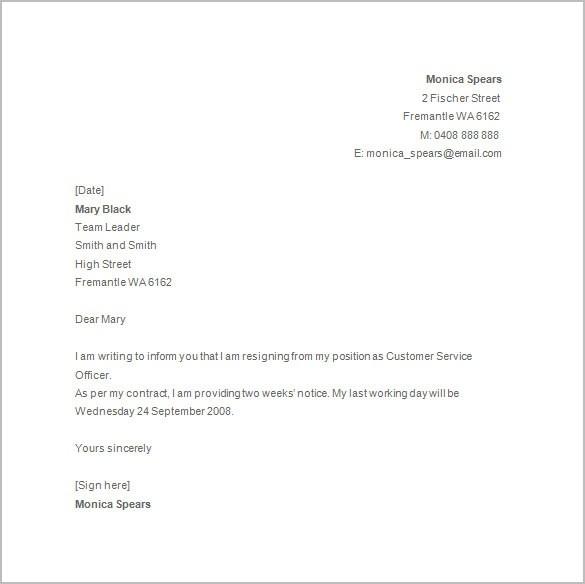 basic resignation letter template uk  Write A Letter Of Resignation Uk - Resignation letter ..