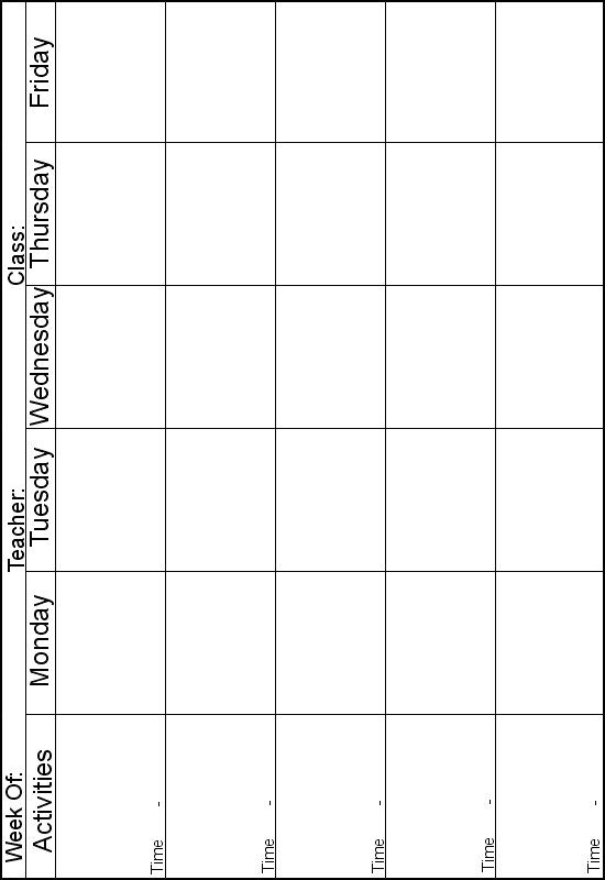 lesson plan templates for preschool printable  www.preschoolprintables.com / Lesson Plans. 5 day a week ..