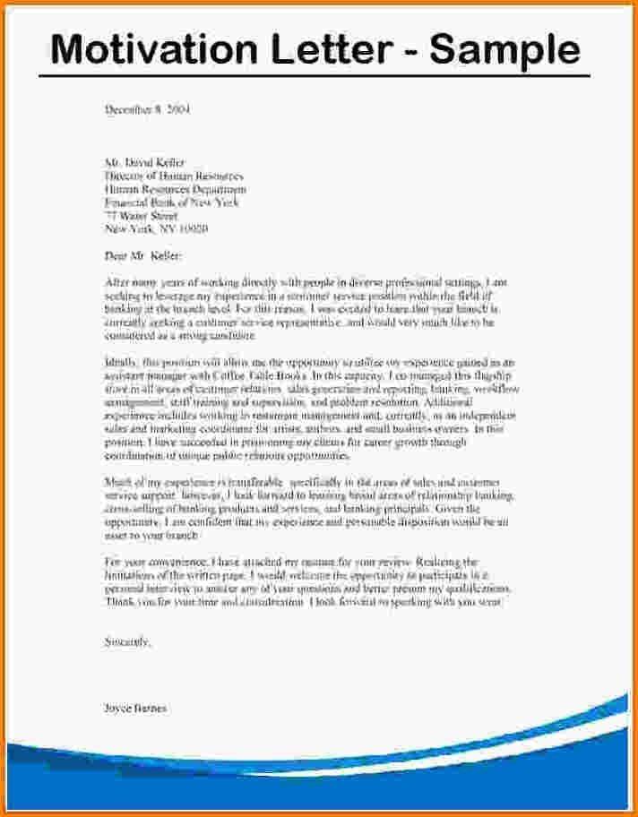 motivation letter english example university  10+ motivational letter for bursary application sample ..