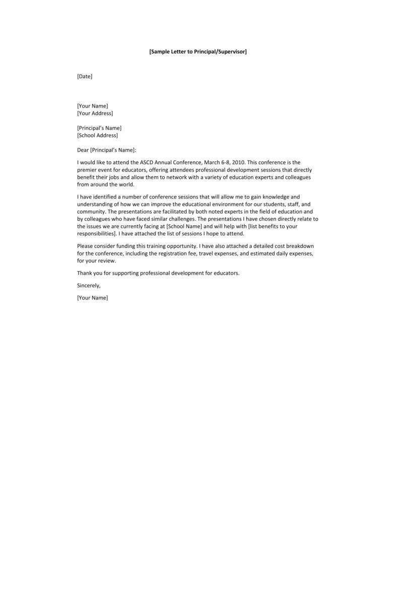 request letter sample for permission in school  10+ Request Letter to a Principal Templates - PDF | Free ..