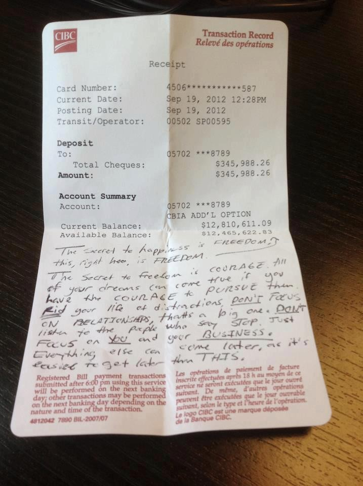 bank statement with millions  $13 Million Dollar Bank Statement Found in a Cafe with a ..