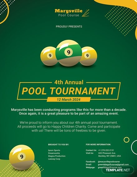 pool tournament flyer template free download  17+ Tournament Flyers - PSD, Word, AI, Vector EPS | Free ..