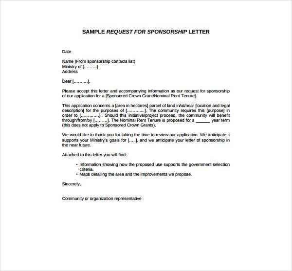 sample request for sponsorship letter  2+ Sponsorship Request Letter Templates - PDF | Free ..