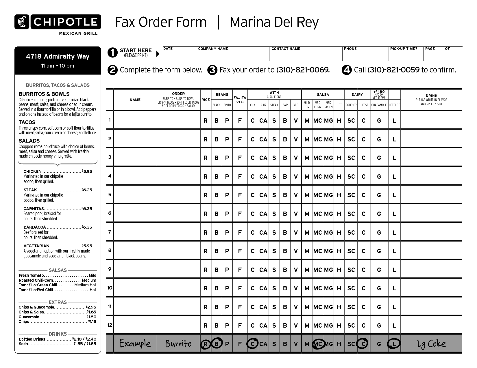 order form chipotle menu printable  #31: Chipotle Mexican Grill Fax Order Form. I choose this ..