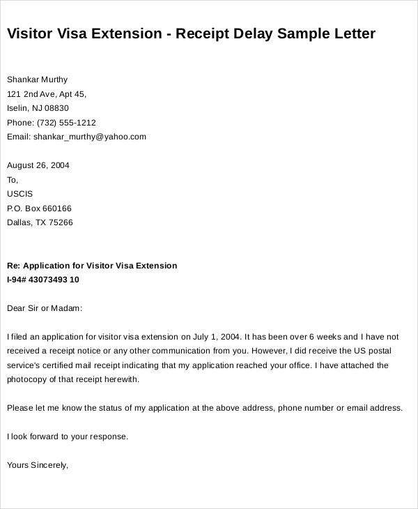 sample request letter for visa extension  47+ Request Letter Template - Word, Google Docs, Apple ..