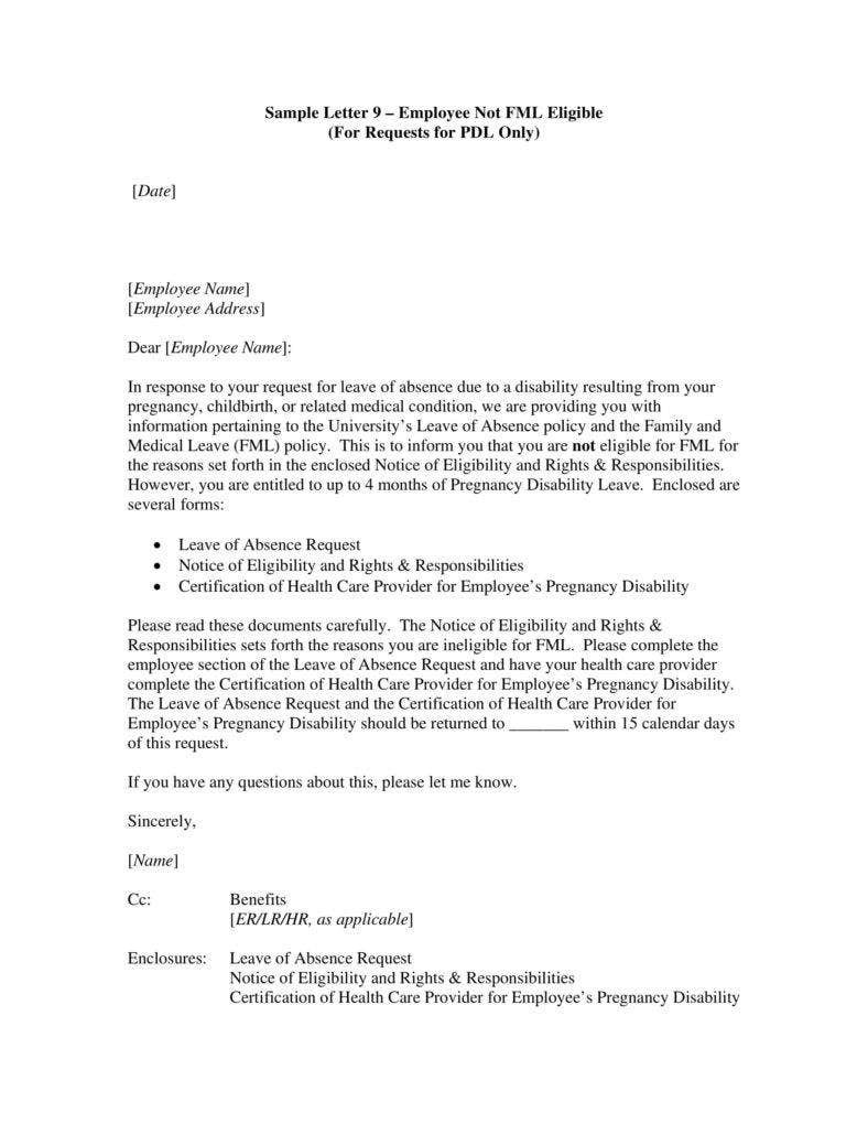 unpaid leave request template  5+ Request Letter Templates for Leave - PDF | Free ..