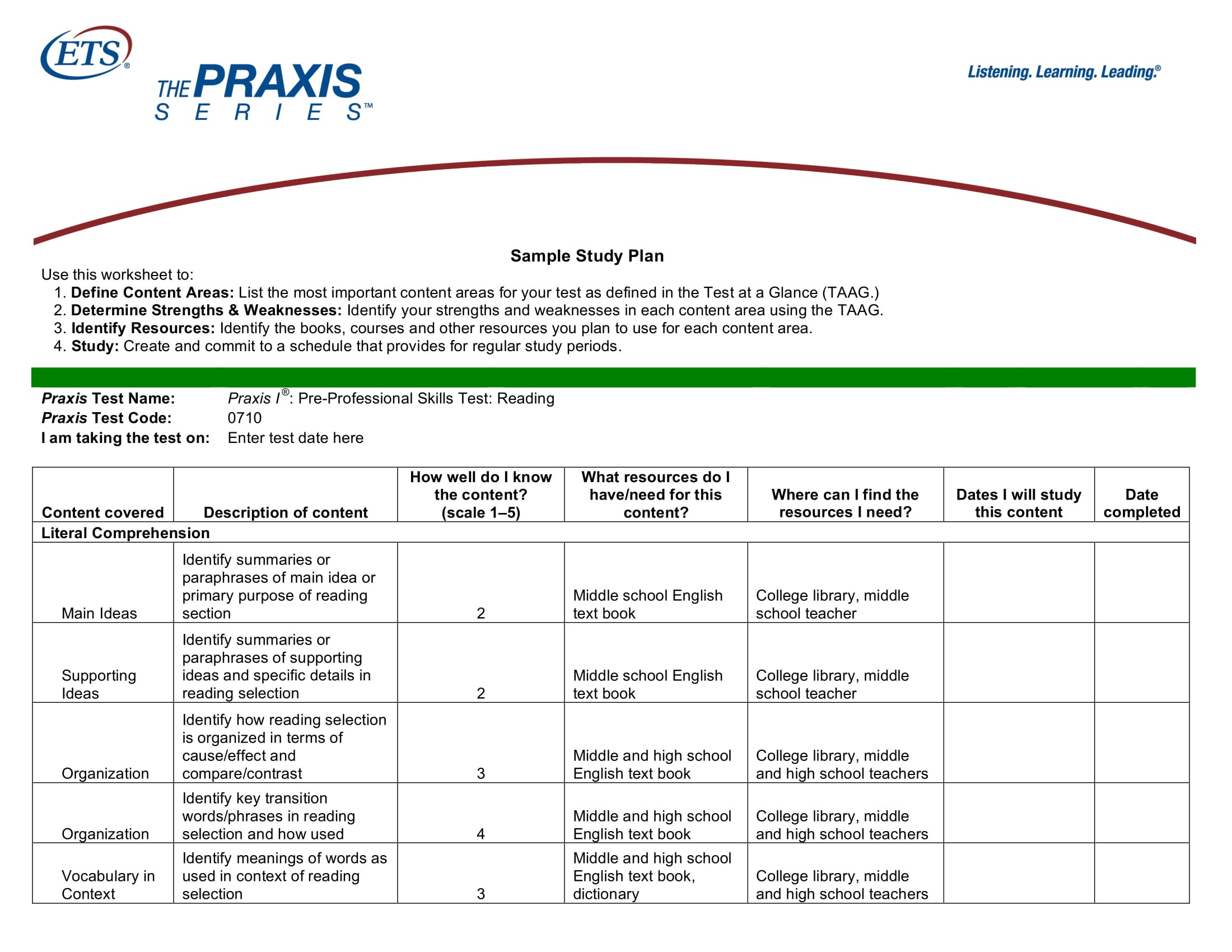 study plan template for scholarship  9+ Study Plan Templates and Examples - PDF | Examples - study plan template for scholarship