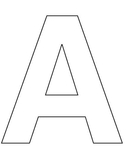 letter a cut out template  Alphabet-Letter-A-coloring-page-for-kids | Lettering ..