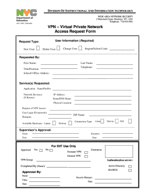 sample request letter for vpn access  application access request form template - Edit Online ..