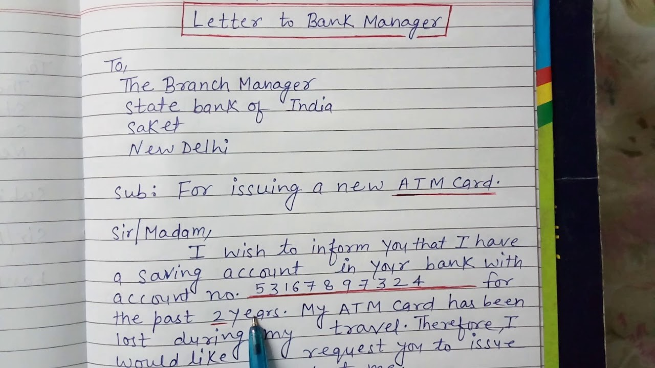 bank statement how to write a letter to bank  Application letter to bank - YouTube - bank statement how to write a letter to bank