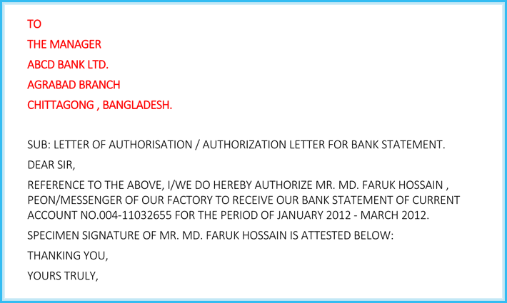 joint account bank statement sample  Authorization Letter for Bank (How to Write it + 6 Free ..