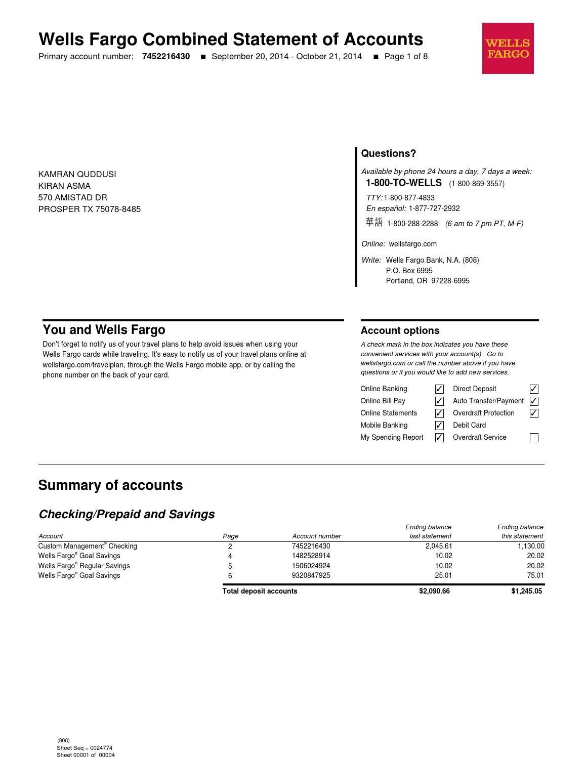 bank statement wells fargo app  Bank statement by tanayaasolole - Issuu - bank statement wells fargo app