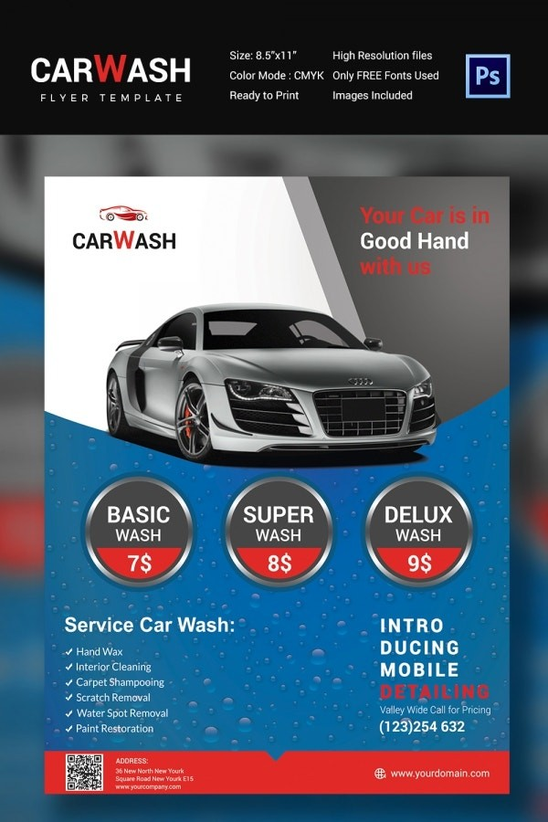 auto detailing flyer template free download  Car Wash Flyer - 48+ Free PSD, EPS, Indesign Format ..