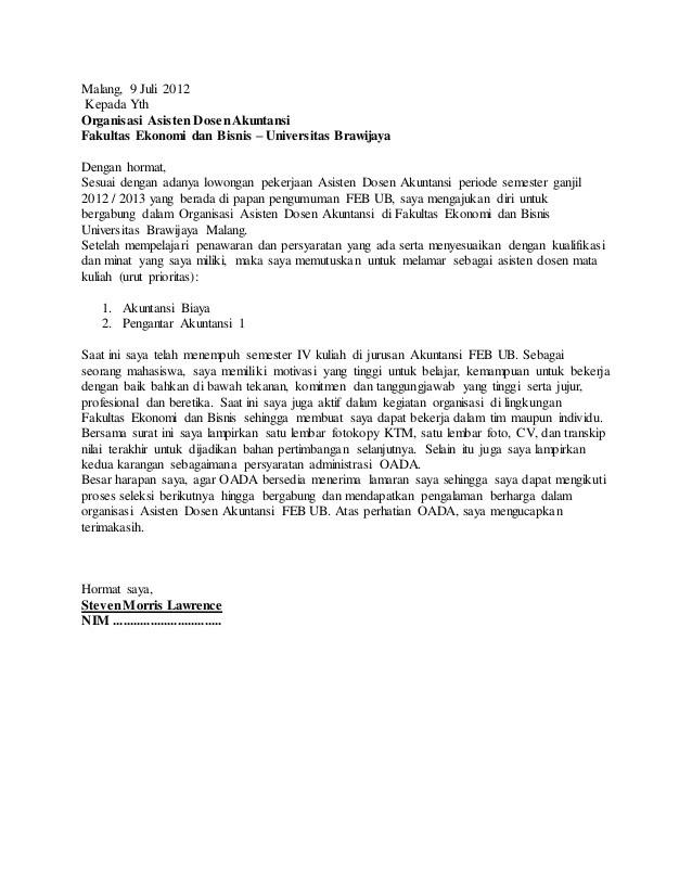 contoh motivation letter dosen  Contoh Curriculum Vitae Lamaran Dosen Doc - contoh motivation letter dosen