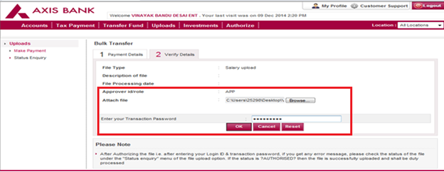 axis bank e statement sample  Corporate Internet Banking - Corporate Banking - Axis Bank - axis bank e statement sample