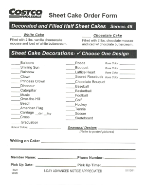 costco cake order form 2019  Costco cake order form - Fill Out and Sign Printable PDF ..
