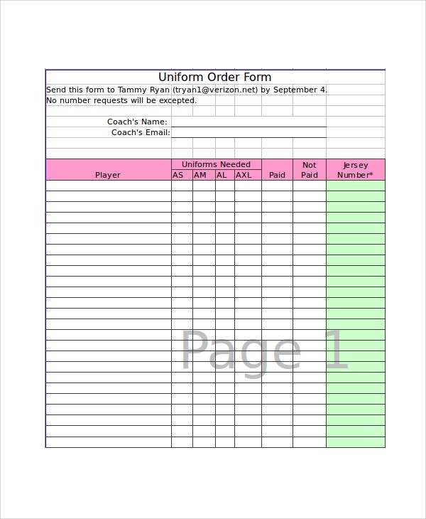 order form in excel template  Excel Order Form Template - 19+ Free Excel Documents ..
