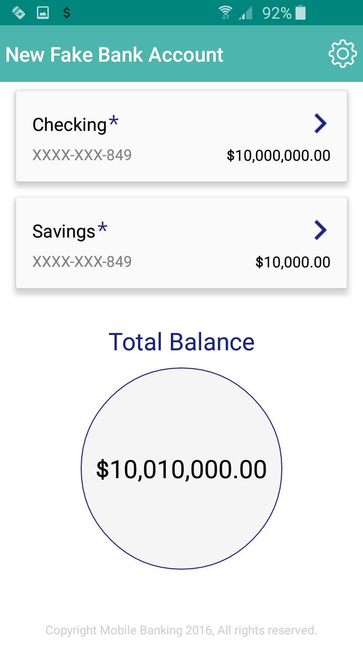 bank statement with millions  Fake Bank Account: Amazon.com
