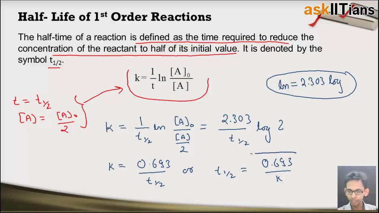 1 order reaction formula  First Order Reactions | Chemistry | Class 12 | IIT JEE ..