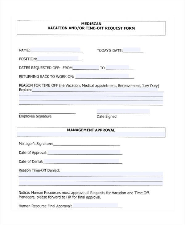 template uniform request form  FREE 25+ Time Off Request Forms in PDF | MS Word - template uniform request form