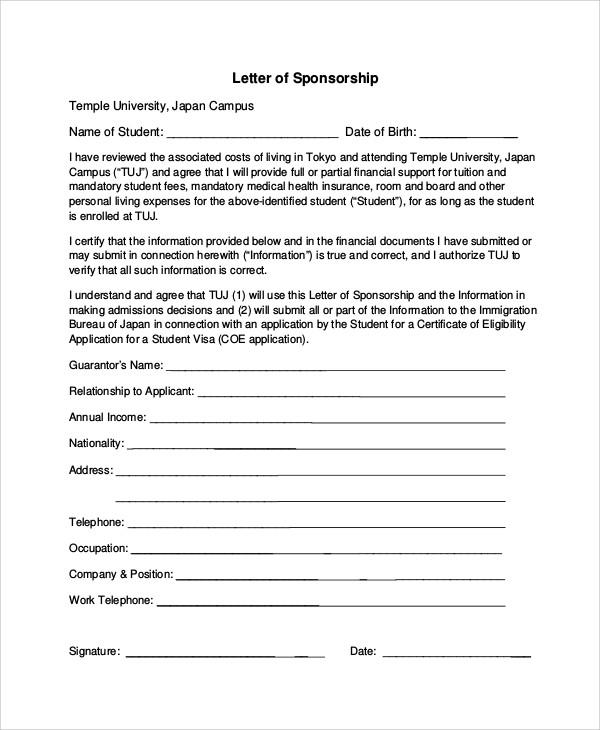 sample request for sponsorship letter  FREE 6+ Sample Sponsorship Request Letter Templates in PDF - sample request for sponsorship letter
